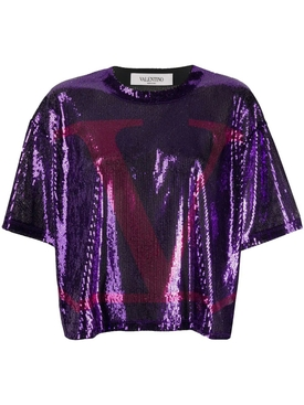 VLOGO Sequin T-Shirtc
