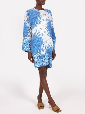 Delft Print Shift Dress