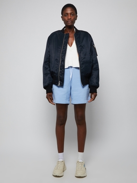 Garment Washed Terry Shorts LIGHT BLUE