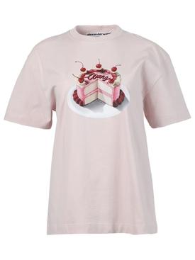 Cake Graphic Print T-shirt, Cradle Pink