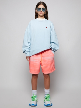 sweat shorts garment dyed orange