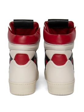 MONGOOSE HIGH-TOP SNEAKER BONE WHITE BLACK AND RED