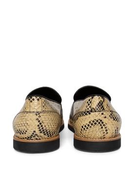 Del Rey Loafer Rattle Snake And Black Croc