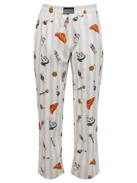 Breakfast Print Trousers