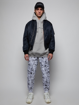 CARTOON MANIA SWEATPANTS, BLACK AND WHITE