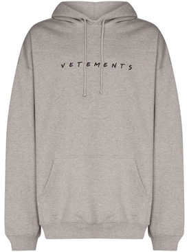 GREY FRIENDLY LOGO HOODIE