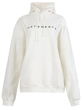 WHITE FRIENDLY LOGO HOODIE