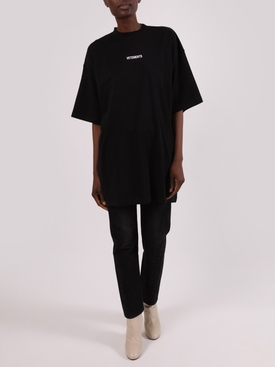 Oversize small logo t-shirt dress