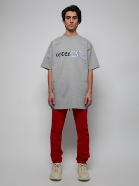 VERTICAL CUT-UP LOGO T-SHIRT Grey
