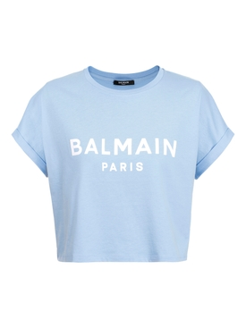 Glacier Blue Cropped Logo T-shirt