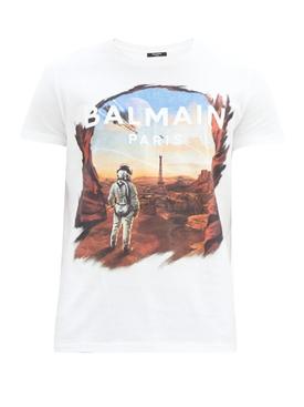 White multicolored logo t-shirt