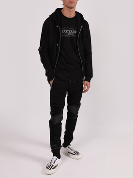 HOODIE ZIP-UP JACKET, BLACK