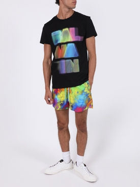 Black multicolored logo t-shirt