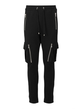 Drawstring zip-detail sweatpants NOIR