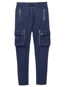 Drawstring zip-detail sweatpants MARINE