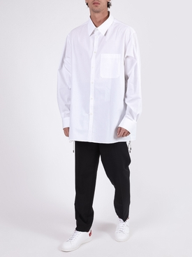 Side Seam Lace-Up Detail Shirt