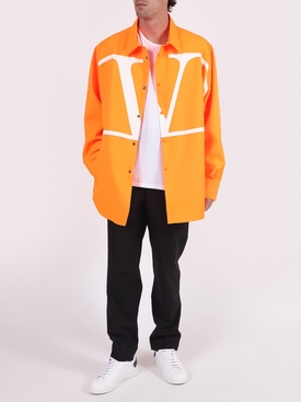 Orange and white oversized logo shirt