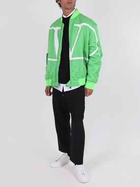 Florescent green bomber jacket