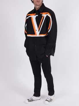 VLTN Back Pocket Logo Pants BLACK GREEN