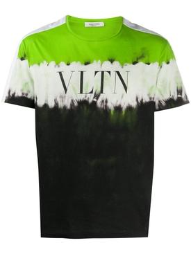 VLTN Dip Dye T-Shirt FLUORESCENT GREEN