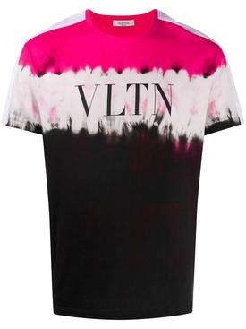 VLTN Dip Dye T-Shirt FLUORESCENT PINK