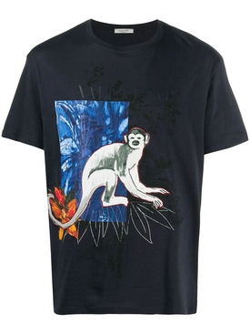 Blue Jungle Mural T-Shirt