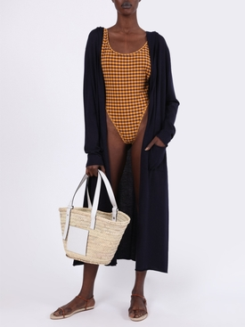 Navy Silence Long Knit Cardigan Sweater
