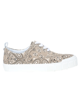 Bandana print low-top sneakers NATURAL