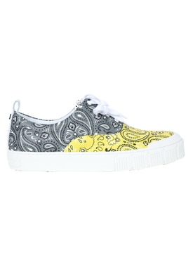 Bandana print low-top sneakers GREY/YELLOW