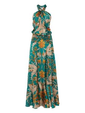 Femme Nouvelle Silk Maxi Halter Dress