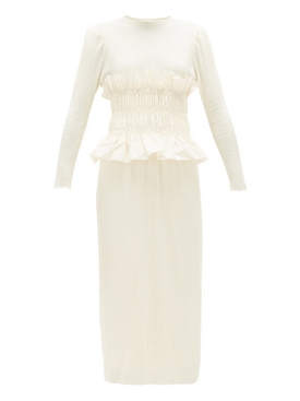 Johanna Ortiz - Ivory Enlighted Moments Midi Dress Ecru - Women