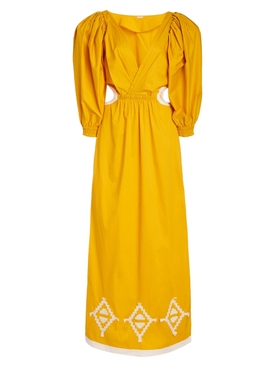 Dancing Yellow Palm Parade Maxi Dress