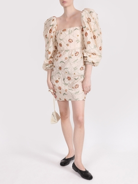 WAYFARING FLORAL PRINT MINI DRESS