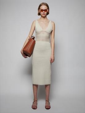 Ivory Crochet Midi Dress