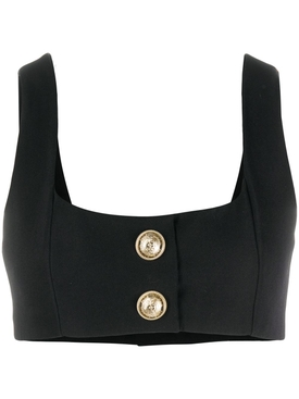 Cropped buttoned top