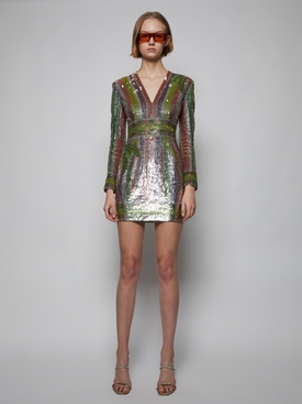 SHORT SEQUIN EMBROIDERED DRESS