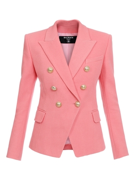 Pink double-breasted jacket