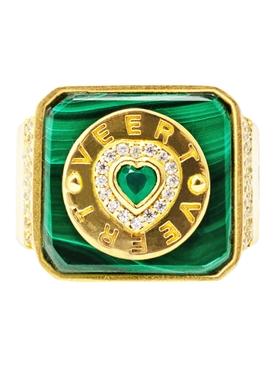 Malachite & Green Onyx Signature Ring