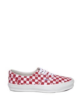OG Era LX Checkerboard Print Sneaker Racing Red