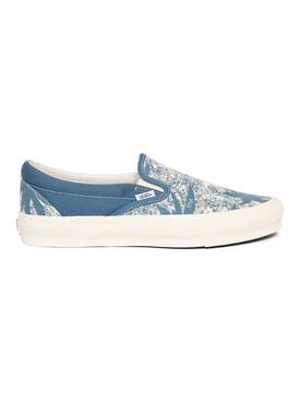 UA OG Classic Slip-on Palm Summer Leaf Sneaker Navy