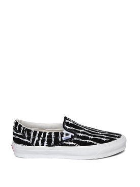 OG Classic Slip-On LX Barbed Wire Print Sneaker Black and White