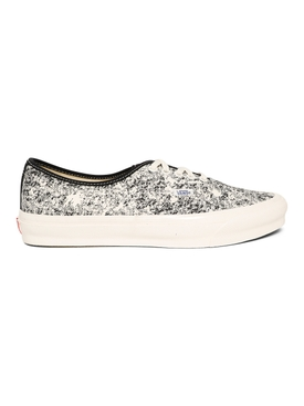 UA OG Authentic LX Low-Top Acid Wash Sneaker Black and White