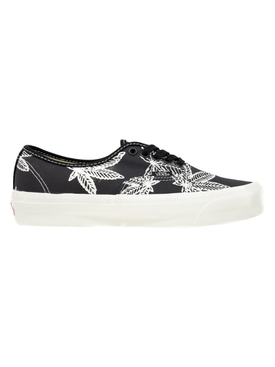 UA OG Authentic LX Sweet Leaf Print Low-Top Sneaker, Skunk