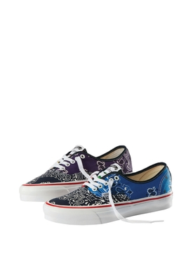 X Bedwin & The Heartbreakers OG Authentic LX Paisley Print Sneaker Blue and Yellow