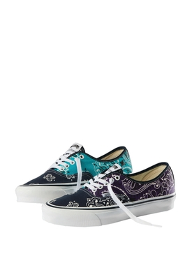 X Bedwin & The Heartbreakers OG Authentic LX Paisley Print Sneaker Blue and Purple