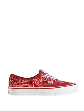 X Bedwin & The Heartbreakers OG Authentic LX Paisley Print Sneaker Red