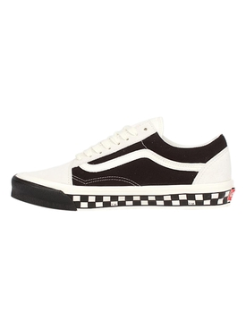 UA OG Old Skool LX Bumper Cars Low-Top Sneaker, Marshmallow and Black