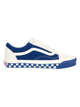UA OG Old Skool LX Bumper Cars Low-Top Sneaker, Marshmallow and True Blue