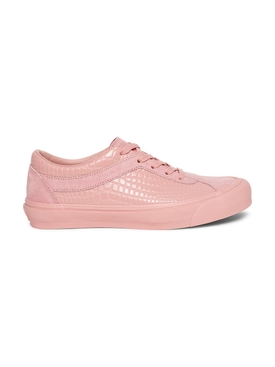 x The Webster Croco Bold Ni LX Low-Top Sneaker, Bridal Rose