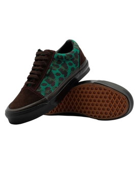 x Stray Rats Green Leopard Print OG Old Skool Sneakers